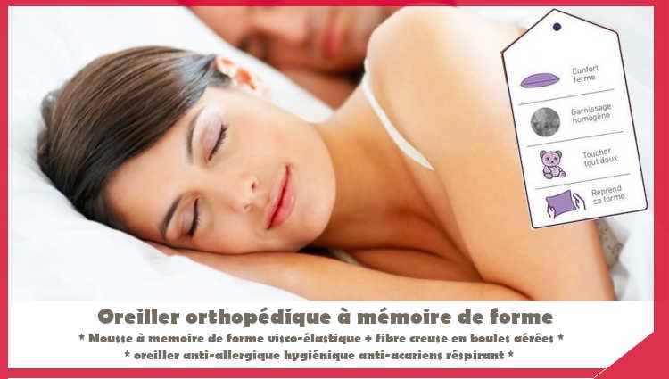 oreiller orthopédique à memoire de forme tunisie