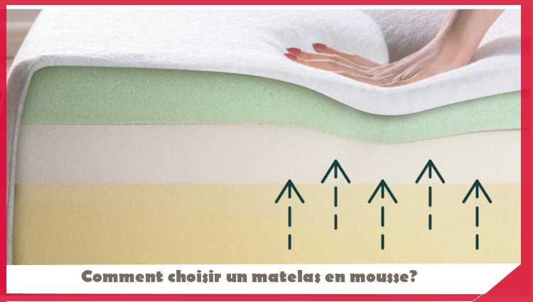 Comment choisir un matelas en mousse