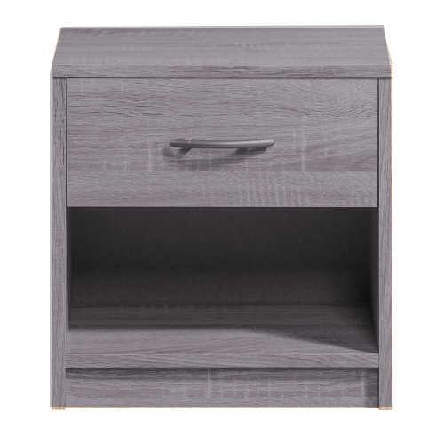 table de nuit en gris à 1 tiroir tunisie
