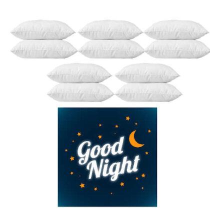 Lot de 10 oreillers PERMAFLEX GOOD NIGHT